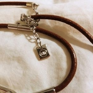 NW Jewelry - NW Leather and Silver Choker w/ Matching Bracelet